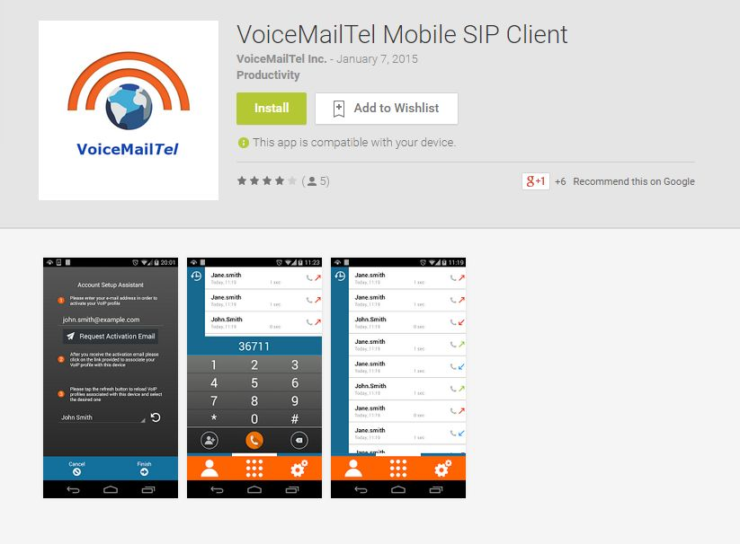 Android - VoiceMailTel